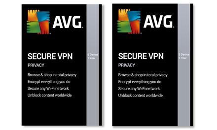 Software de protección y encriptación de datos AVG VPN hasta 5 dispositivos y para 1 o 2 años