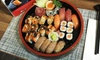 Sushi with Miso Soup and Tea
