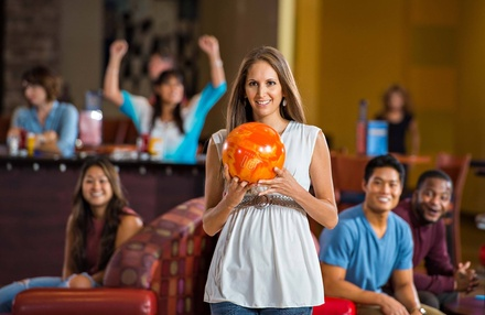$39 for One-Hour of Bowling with Shoe Rental and One Large Pizza at Axis Alley ($71 Value)