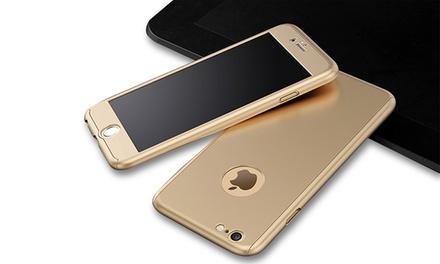 Coque protectrice 360° avant et arrière pour iPhone 5/5S/SE/6/6S/6+/6S+/7/7+ avec protecteur en verre trempé à 7,99 €