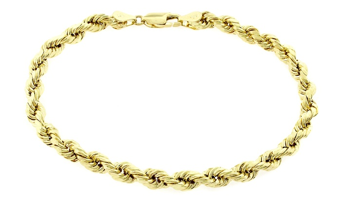 14k Solid Yellow Gold Rope Bracelets By Relex