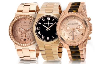 Michael Kors Ladies' Rose Gold-Tone Luxury Watches