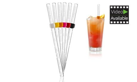 Fino a 3 confezioni da 6 mescolatori con nome per cocktail Vacu...