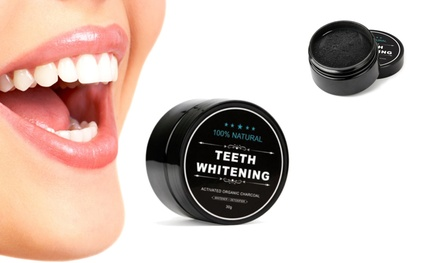 One, Two or Three Packs of Natural and Organic Charcoal Teeth Whitening Powder