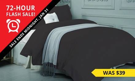 1500TC Cotton Quilt Cover Set: Single $29, Double $39, Queen $49, King $59 or Super King 69