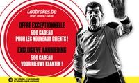 50€ de bonus Sports valable sur le site de paris en ligne Ladbrokes.be pour 5€
