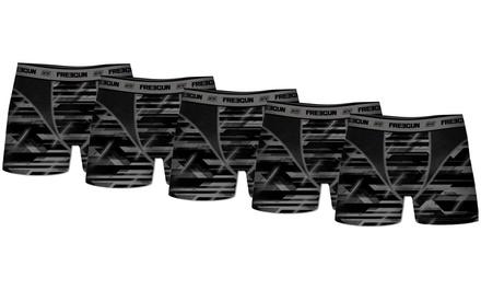 Pack de 5 Boxers de la marque Freegun en microfibres pour Homme