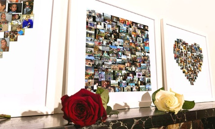 Valentine's Day Regular £5 or Large £10.95 Personalised Collage Canvas Print