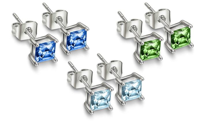 7er set ohrringe swarovski elements