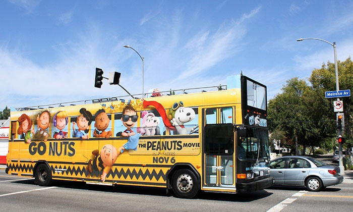 City Safari Hollywood - Hollywood: 24-Hour Hop-On, Hop-Off Bus Passes for 2 or 4 Adults or 1 or 2 Kids from City Safari Hollywood (Up to 53% Off)