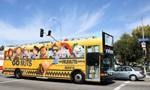 City Safari Hollywood: 24-Hour Hop-On, Hop-Off Bus Passes for 2 or 4 Adults or 1 or 2 Kids from City Safari Hollywood (Up to 56% Off)