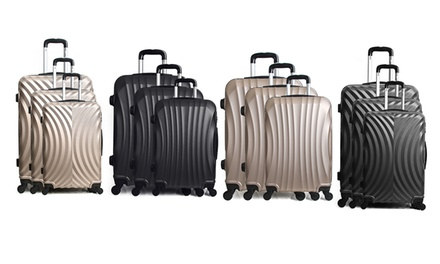 ThreePiece Moscou or Lagos Trolley Suitcase Set With Free Delivery