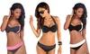 Bikini bicolore effet push up