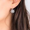 Tsarina Crystal Flower Drop Earrings