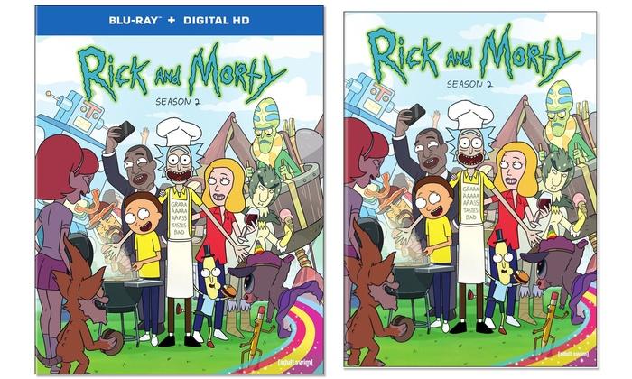 rick and morty season 2 on blu ray or dvd pre order groupon