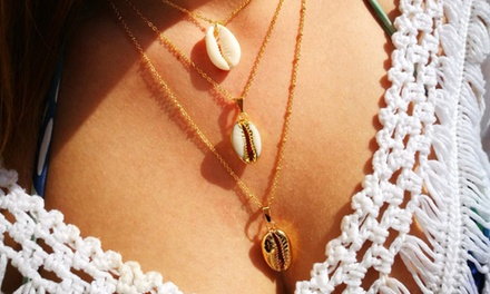 Parure bracelet collier coquillage