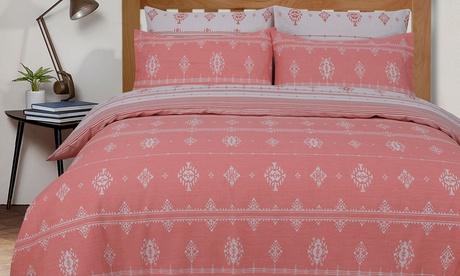 Parure de lit réversible de la marque Sleepdown avec 1 ou 2 taies d'oreillers