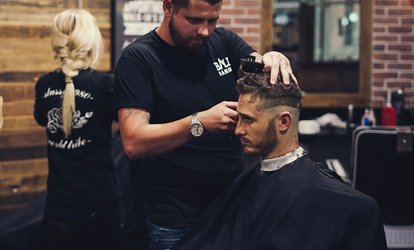 image for Barbershop Haircut ($19) or Razor Fade Shave ($29) at HMB Barbers (Up to $40 Value)