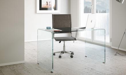 Scrivania in vetro glassy groupon goods for Groupon shopping arredamento