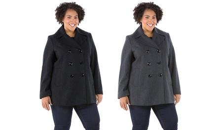 Jones New York Women's Plus-Size Pea Coat