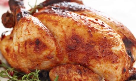 1 o 2 pollos a la brasa con patatas, ensalada, salsa y bebida en La Estación (hasta 47% de descuento)