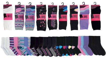 6, 12 or 24 Pairs of Women's Assorted Socks