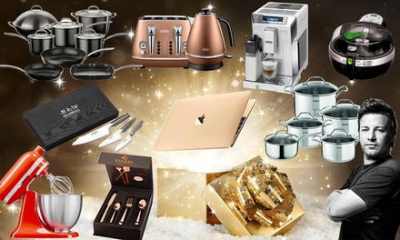 Bundle Up! Mystery Gift (£7.99-£16.99) Chance to Get Gold Macbook, KitchenAid Mixer, Delonghi Toaster Kettle Set & More