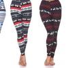 Women's Fair Isle Printed Winter Leggings. Plus Sizes Availble.