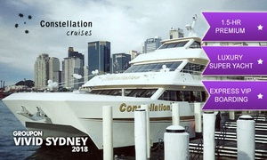 Sydney Constellation Cruises Pty Ltd: Constellation Cruises: From $20 for 90-Min Vivid Cruise, Express Boarding, Drink (From $35 Value)