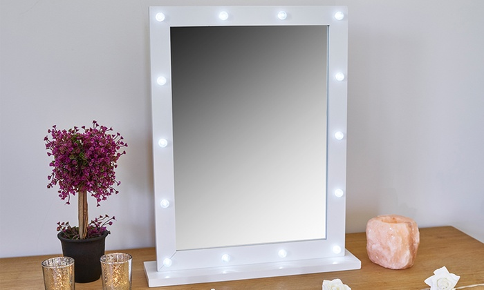 Globrite LED Hollywood Cosmetics Mirror in Choice of Colour for £18.98