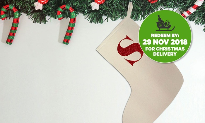 Letter Christmas Stockings.Personalised Christmas Stocking With Glitter Letter One 6 95 Two 10 95 Or Four 18 95 Don T Pay Up To 76 76