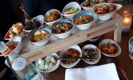 """Ron Gastrobar Indonesia Downtown: lunchrijsttafel """"Agus"""" voor 2 personen, in hartje Amsterdam"""