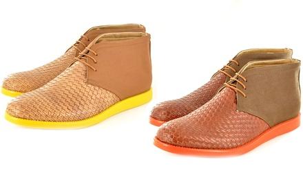 Men's Weave Pattern Desert Boots