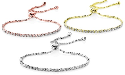 One, Two or Three Philip Jones Solitaire Friendship Bracelet with Crystals from Swarovski®
