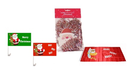 Christmas Decorations Garland $1.30, Apron $1.80 or XL Flag $3.45 at The Party People Up to $6.90 Value