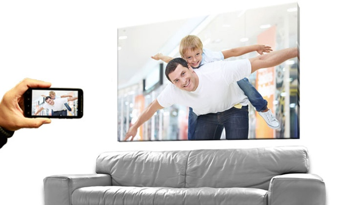 """InkDoodle.ca: One or Two 16""""x20"""" or 20""""x24"""" Custom Canvas Prints from InkDoodle.ca (Up to 80% Off)"""