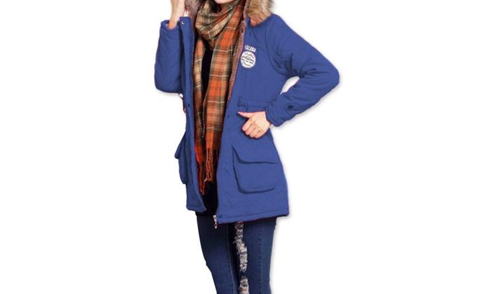 5b8a44dd2347 Fourrure D hiver Femme À Manteau Shopping Groupon Capuche R1fqRpxd