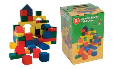 75-Piece Wood Blocks Set