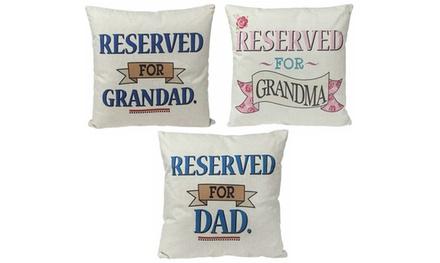 Cuscino imbottito con stampa disponibile in 3 fantasie