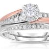 1/3 CTTW Diamond Bridal Set in 10K Rose & White Gold