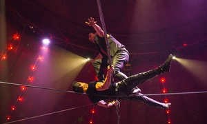 Circus Zyair: Circus Zyair: Two or Four Early Bird Side View Tickets with Popcorn, 17–22 May at Hudson's Field (Up to 76% Off)