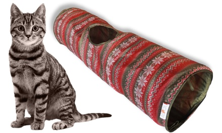 ASPCA Ugly Christmas Sweater-Design Crinkle Cat Tunnel