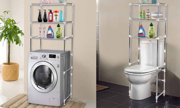 Laundry or Bathroom Storage Rack | Groupon