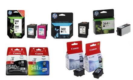 Originele Canon en HP inkt cartridges, vanaf € 14,99 tot korting