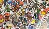 Lot de 100 autocollants de super-héros