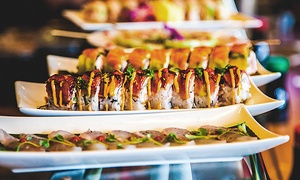 Tsunami Sushi and Teppanyaki: $14 for $32 Worth of Sushi and Japanese Food for Two or More at Tsunami Sushi and Teppanyaki
