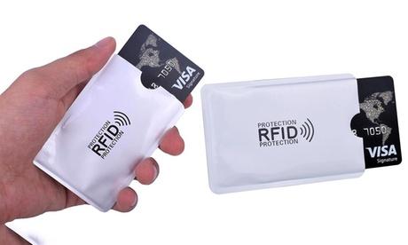 5, 10 ou 20 pochettes de protection anti-RFID pour cartes bancaires et autres, livraison gratuite