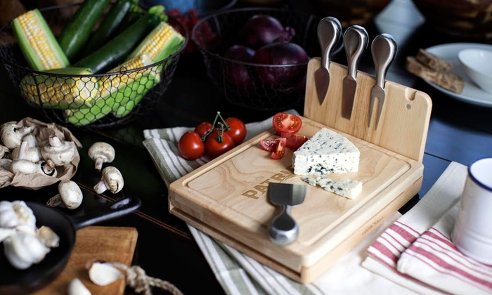 NFL Asiago Cheese Cutting Board with Magnetic Stainless Steel Tools ... 35693fc8f