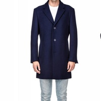 Groupon.com deals on Braveman Mens Single or Double Breasted Wool Blend Coats