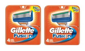 Gillette Fusion Razor Cartridges (4- or 8-Pack)